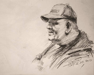 Pencil Portrait Wall Art - Drawing - Sketch Man 15 by Ylli Haruni