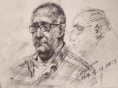 Pencil Portrait Wall Art - Drawing - Sketch Man 18 by Ylli Haruni