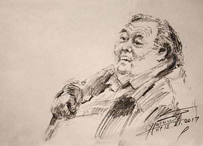 Sketch Man 20 Art Print
