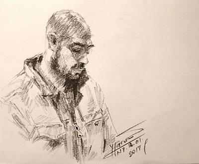 Pencil Portrait Wall Art - Drawing - Sketch Man 9 by Ylli Haruni