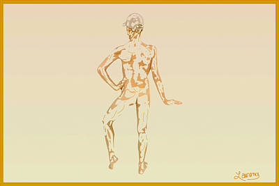 Mixed Media - Sketch Of A Male by Laurence Wolfe
