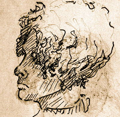 Sketch Of A Young Woman Art Print by Dan Earle