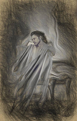 Painted Image Drawing - Sketch Of Adonis by Joaquin Abella