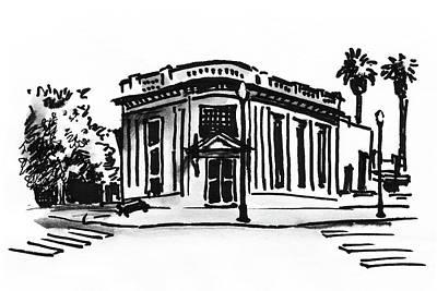 Drawing - Sketch Of Building by Masha Batkova