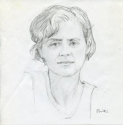 Painting - Sketch Of Lauri by Charles Pompilius