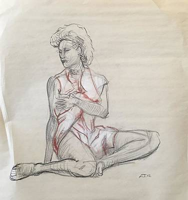 Drawing - Sketch Of Model by Alejandro Lopez-Tasso