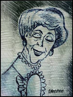 Copy Mixed Media -  Sketch Of  Old Women by MaryLee Parker
