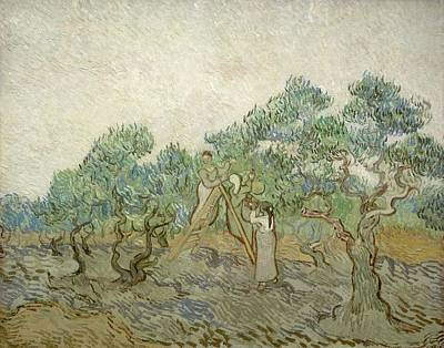 Painting - Sketch Of Orchard In Blossom With Two Figures Spring, Enclosed In A Letter From Vincent Van Gogh To  by Artistic Panda