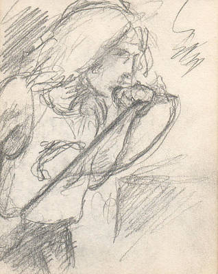 Sketch Of Robert Plant Art Print by T Ezell