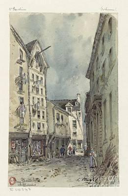 Sketch Record Of Paris Buildings Art Print by MotionAge Designs