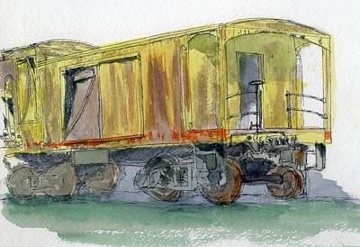 Truck Painting - Sketchbook 016 by David King