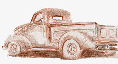 Truck Painting - Sketchbook 021 by David King