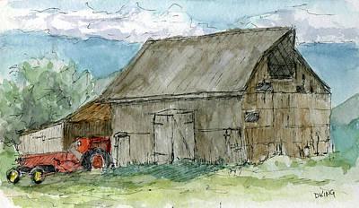 Painting - Sketchbook 033 by David King