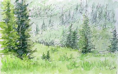 Painting - Sketchbook 036 by David King
