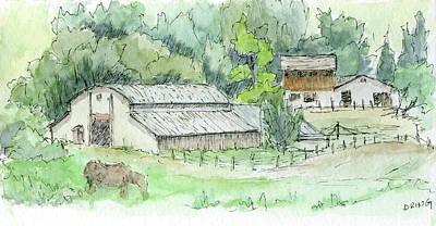 Painting - Sketchbook 050 by David King