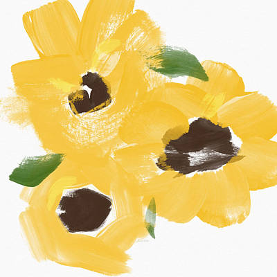 Royalty-Free and Rights-Managed Images - Sketchbook Sunflowers- Art by Linda Woods by Linda Woods