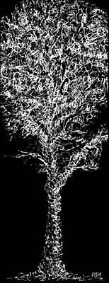 Drawing - Sketchbook Tree 2-b-w by VIVA Anderson