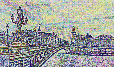 Sketchbook View Paris Art Print by Mario Carini