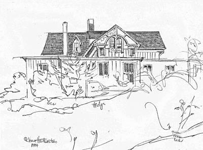 Sketchbook, Watch Hill Ri Art Print by Joan Hartenstein