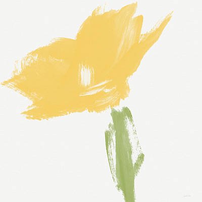 Sketchbook Yellow Rose- Art By Linda Woods Art Print