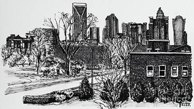 Sketching Charlotte Art Print