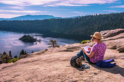 Photograph - Sketching Emerald Bay by Steven Ainsworth