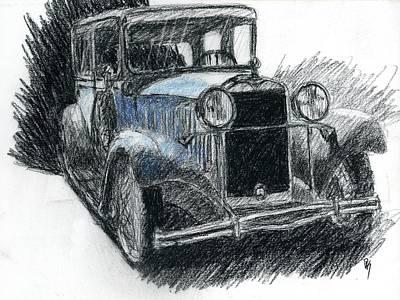 Drawing - Sketchy Durant by David King