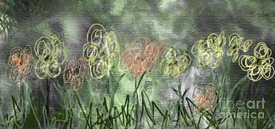 Digital Art - Sketchy Flowerrs by Gabrielle Schertz