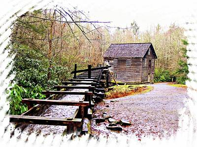 Photograph - Sketchy Mingus Mill 2 by Marty Koch
