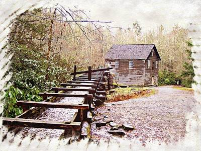Photograph - Sketchy Mingus Mill 3 by Marty Koch