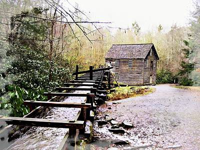 Photograph - Sketchy Mingus Mill  by Marty Koch