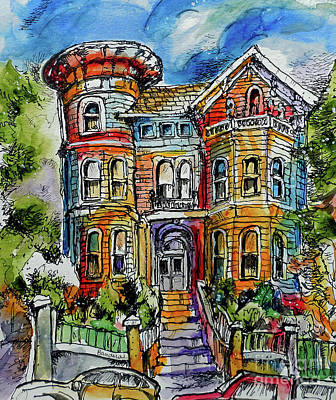 Painting - Sketchy Victorian by Terry Banderas