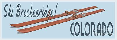 Digital Art - Ski Breckenridge Colorado by Edward Fielding