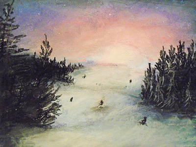 Ski Glisten Art Print