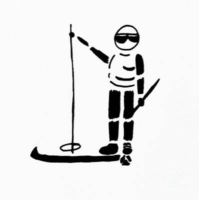 Robin Lewis Drawing - Ski Guy by Robin Lewis
