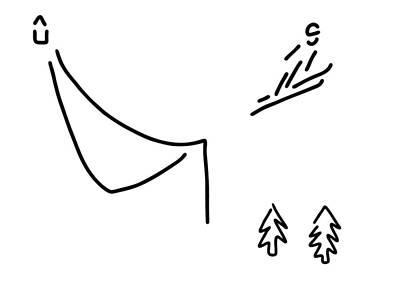 Winter Sports Drawing - Ski Jumper Digs Ski Jumping Fly by Lineamentum