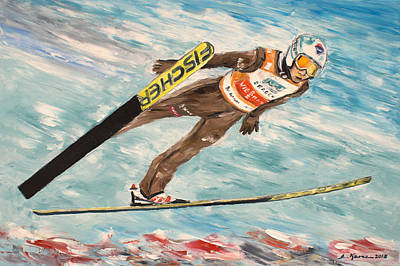 Painting - Ski Jumper- Kamil Stoch by Luke Karcz