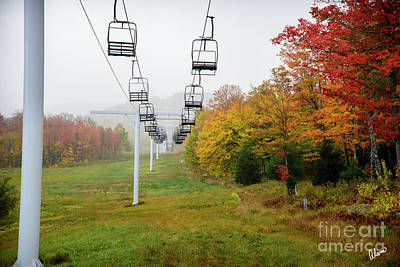 Photograph - Ski Lift At Sugarloaf by Alana Ranney