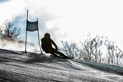 Photograph - Ski Racer Backlit by Tim Kirchoff