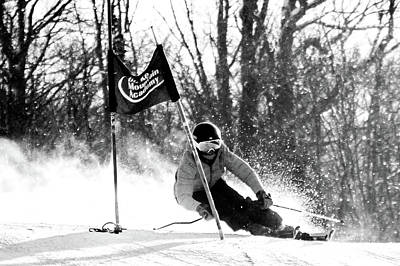 Photograph - Ski Racer Bw by Tim Kirchoff