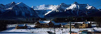 Ski Resort Banff National Park Alberta Art Print by Panoramic Images