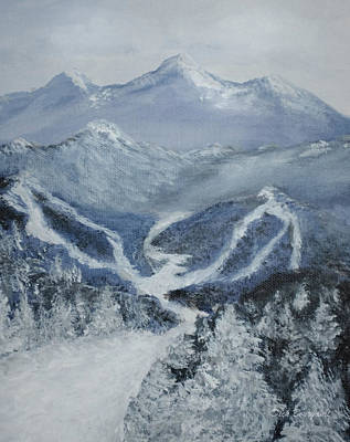 Painting - Ski Resort by Dick Bourgault