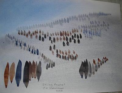 Ski Run Painting - Ski Run by Carol Steinhauer