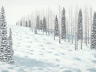 Ski Run Painting - Ski Run by Julie Ethridge