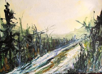 Ski Trail Art Print by Linda King
