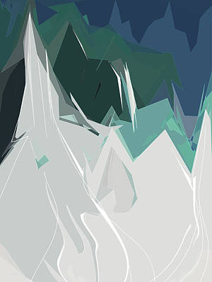 Digital Art - Ski Trails by Gina Harrison
