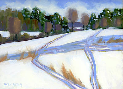 Painting - Ski Trails by Mary Byrom