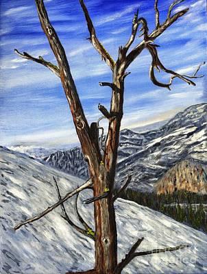 Ski Run Painting - Ski Tree Painting by Timothy Hacker