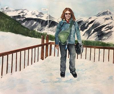 Painting - Ski Trip by Ellen Canfield