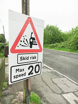 Asphalt Photograph - Skid Risk by Tom Gowanlock